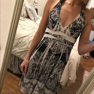Light, flowy casual halter top dress